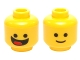Part No: 3626cpb1100  Name: Minifigure, Head Dual Sided Black Standard Eyes, Smile with Tongue / Standard Grin Pattern (Benny) - Hollow Stud