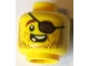 Part No: 3626cpb1331  Name: Minifigure, Head Beard Brown Stubble, Eyepatch, Open Grin, Missing Teeth Pattern - Hollow Stud