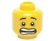Part No: 3626cpb1407  Name: Minifigure, Head Mouth Open Scared, White Pupils and Raised Eyebrows Pattern - Hollow Stud