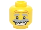 Part No: 3626cpb1417  Name: Minifigure, Head Gray Eyebrows Raised and Bushy Moustache, Wrinkles, White Pupils and Open Smile Pattern - Hollow Stud