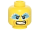 Part No: 3626cpb1485  Name: Minifigure, Head Medium Azure Eye Paint, Clenched Teeth Pattern - Hollow Stud