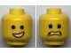 Part No: 3626cpb2281  Name: Minifigure, Head Dual Sided Male Open Smile with Teeth / Eyebrows, Scared with Dimples Pattern - Hollow Stud