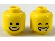 Part No: 3626cpb2306  Name: Minifigure, Head Dual Sided, Wide Smile with Closed Teeth, Black Eyes / Closed Eyes Pattern - Hollow Stud