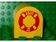 Part No: 3664pb03  Name: Duplo, Brick 2 x 2 x 2 Curved Top with Life Preserver and Lego Logo Pattern