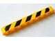 Part No: 40490pb008L  Name: Technic, Liftarm 1 x 9 Thick with Black and Yellow Danger Stripes Pattern Model Left (Sticker) - Set 8069