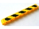 Part No: 40490pb008R  Name: Technic, Liftarm 1 x 9 Thick with Black and Yellow Danger Stripes Pattern Model Right (Sticker) - Set 8069