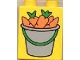 Part No: 4066pb039  Name: Duplo, Brick 1 x 2 x 2 with Bucket of Carrots Pattern