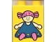 Part No: 4066pb048  Name: Duplo, Brick 1 x 2 x 2 with Blue Doll Pattern