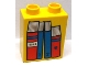 Part No: 4066pb500  Name: Duplo, Brick 1 x 2 x 2 with Four Books Red and Blue Pattern