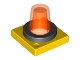 Part No: 41195c01  Name: Duplo Revolving-Style Safety Light Base with Trans-Neon Orange Light