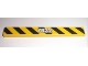 Part No: 4162pb032  Name: Tile 1 x 8 with White '7632' on Black and Yellow Danger Stripes Pattern (Sticker) - Set 7632
