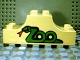 Part No: 4197pb006  Name: Duplo, Brick 2 x 6 x 2 Curved Ends with 'Zoo' in Form of Snake Pattern