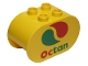 Part No: 4198pb17  Name: Duplo, Brick 2 x 4 x 2 Rounded Ends with Octan Logo Pattern