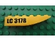 Part No: 42023pb001L  Name: Slope, Curved 6 x 1 Inverted with 'LC 3178' Pattern Model Left (Sticker) - Set 3178
