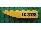 Part No: 42023pb001R  Name: Slope, Curved 6 x 1 Inverted with 'LC 3178' Pattern Model Right (Sticker) - Set 3178