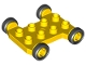 Part No: 42092c01  Name: Duplo Cement Mixer Base 2 x 4 with Axle Extensions and Black Wheels