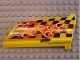 Part No: 44350pb005  Name: Technic, Panel Fairing #20 Large Long, Small Hole, Side A with '9' and Flame Pattern (Sticker) - Set 8376
