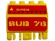 Part No: 44572pb001  Name: Hinge Panel 2 x 4 x 3 1/3 Locking Dual 2 Fingers with 'SUB 76' and 'OPEN' Pattern (Stickers) - Set 7776