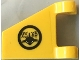 Part No: 44676pb042  Name: Flag 2 x 2 Trapezoid with Black Shark and Alien Symbols Pattern (Sticker) - Set 70631