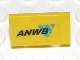 Part No: 4865pb029  Name: Panel 1 x 2 x 1 with 'ANWB' and Blue Logo Pattern (Sticker) - Set 2140