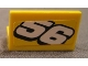 Part No: 4865pb036  Name: Panel 1 x 2 x 1 with White Number 56 Sloping Downward Pattern (Sticker) - Set 8183