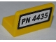 Part No: 4865pb046  Name: Panel 1 x 2 x 1 with 'PN 4435' on White Background Pattern (Sticker) - Set 4435