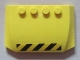 Part No: 52031pb029  Name: Wedge 4 x 6 x 2/3 Triple Curved with Black and Yellow Danger Stripes Pattern (Sticker) - Set 7249