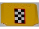 Part No: 52031pb039  Name: Wedge 4 x 6 x 2/3 Triple Curved with Checkered Flag with Red Outline Pattern (Sticker) - Set 4643