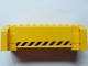 Part No: 52041pb003  Name: Crane Section 4 x 12 x 3 with 8 Pin Holes with Black and Yellow Danger Stripes Pattern on Both Sides (Stickers) - Set 7249