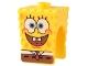 Part No: 54872pb01  Name: Minifigure, Head Modified SpongeBob SquarePants with Open Smile Pattern