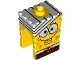 Part No: 54872pb05  Name: Minifigure, Head Modified SpongeBob SquarePants with Bandage Pattern