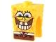 Part No: 54872pb06  Name: Minifigure, Head Modified SpongeBob SquarePants with Bottom Teeth Pattern