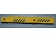 Part No: 57779pb004  Name: Crane Arm Outside, New Wide with Pin Hole at Mid-Point with Black and Yellow Danger Stripes Pattern on Both Sides (4 Stickers) - Set 4645
