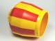 Part No: 58629pb02  Name: Duplo Cement Mixer Bucket with Red Stripes Pattern