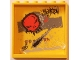 Part No: 59349pb086  Name: Panel 1 x 6 x 5 with Black Grafitti Tags, Red Skull and Small Black Damage Pattern (Sticker) - Set 5972