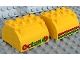 Part No: 59684pb01  Name: Duplo Container Tank Upper Section with Stripes and Octan Logo Pattern