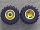Part No: 6014ac01  Name: Wheel 11mm D. x 12mm, Hole Round for Wheels Holder Pin with Black Tire Offset Tread Small Wide (6014a / 6015)