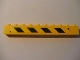 Part No: 6111pb008L  Name: Brick 1 x 10 with Black and Yellow Danger Stripes Pattern Left (Sticker) - Set 7633