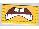 Part No: 6178pb005  Name: Tile, Modified 6 x 12 with Studs on Edges with SpongeBob SquarePants Open Mouth, Bottom Teeth Pattern (Sticker) - Set 3826