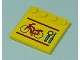 Part No: 6179pb017  Name: Tile, Modified 4 x 4 with Studs on Edge with Bicycle, Wrench and Screwdriver Pattern (Sticker) - Set 7641