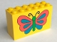 Part No: 6213px3  Name: Brick 2 x 6 x 3 with Butterfly Pattern