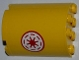Part No: 6259pb018L  Name: Cylinder Half 2 x 4 x 4 with Red SW Republic Pattern Model Left Side (Sticker) - Set 8037