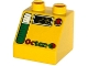 Part No: 6474pb24  Name: Duplo, Brick 2 x 2 Slope 45 with Octan, Digits and Gas Gauge Pattern