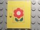 Part No: 838pb03  Name: Homemaker Cupboard Door 4 x 4 with Red Flower Pattern, Door Handle Left (Sticker) - Set 263-1