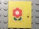 Part No: 838pb04  Name: Homemaker Cupboard Door 4 x 4 with Red Flower Pattern, Door Handle Right (Sticker) - Set 263-1