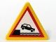 Lot ID: 55286374  Part No: 892pb012  Name: Road Sign Clip-on 2 x 2 Triangle with Car Falling into Water Pattern (Sticker) - Set 7994