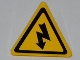 Part No: 892pb020  Name: Road Sign Clip-on 2 x 2 Triangle with Electricity Danger Sign Pattern (Sticker) - Set 5887