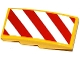 Part No: 93606pb032R  Name: Slope, Curved 4 x 2 No Studs with Red and White Danger Stripes Pattern Model Right Side (Sticker) - Set 60076