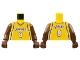 Part No: 973bpb131c01  Name: Torso NBA Los Angeles Lakers #8 Pattern / Brown NBA Arms