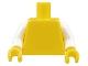 Part No: 973c01  Name: Torso Plain / White Arms / Yellow Hands